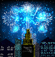 happy new year 2016 with firework city at night vector image