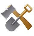 shovel and axe vector image vector image