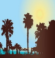 A hot sunny day at the tropical resort vector image