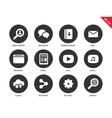 Web icons on white background vector image