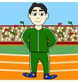 Cartoon athlete vector image