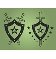 Military style emblems vector image