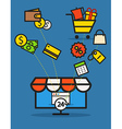 Modern web commerce vector image