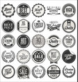 retro vintage badges collection 2 vector image