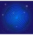 Spiritual sacred symbol of labyrinth on the deep vector image