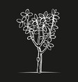 woodcut print tree vector image