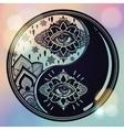 Yin and Yang boho symbol vector image