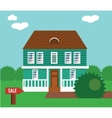 Real estate on sale House cottage townhouse vector image