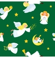 christmas holiday flying angel in the sky with vector image