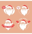 Emblems with Santa vector image