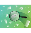 business paper search vector image vector image
