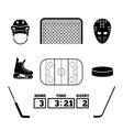 Hockey icons vector image