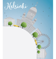Helsinki skyline with grey buildings vector image vector image