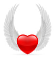 Heart with wings up vector image