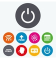 Power icons Start engine symbol Push arrow vector image