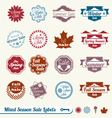 Mixed Season Sale Labels vector image vector image
