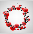 background with red and black bubbles vector image