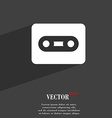 Cassette icon symbol Flat modern web design with vector image