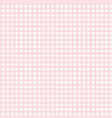 cute pink gingham pattern vector image