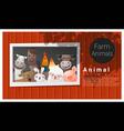 Farm animal background vector image