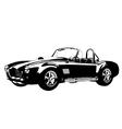 silhouette classic sport car ac shelby cobra vector image