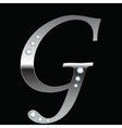 silver metallic letter G vector image