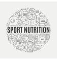 Sport Nutrition Concept vector image
