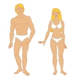 Templates of human s figure vector image