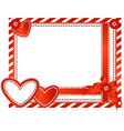 valentine horizontal card vector image