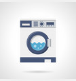 washing machine flat color icon vector image