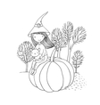 Autumn theme Halloween vector image