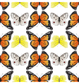 butterfly seamless4 vector image vector image