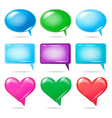 Glossy bubbles for speech vector image