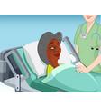 nursing home patient vector image vector image