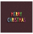 Merry Christmas lettering on chocolate background vector image vector image
