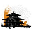 pagoda vector image