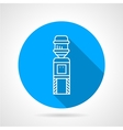 Automatic cooler blue round icon vector image