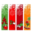 four vertical winter banners vector image vector image