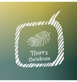 pine branch white icon Doodle Christmas vector image
