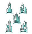 skyscraper logos vector image vector image