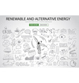 Renewable and Alternative Energy concept with vector image vector image