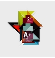 Paper style abstract geometric shapes with vector image vector image