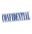 confidential blue grunge vintage stamp isolated on vector image