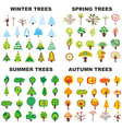 Tree Season Set vector image