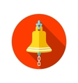 Bell marine flat icon with long shadow vector image