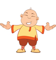 Cartoon of Chinese Boy vector image
