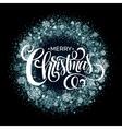 Christmas Snowflakes Wreath vector image