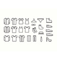 Clothes Icons vector image