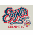 eagles junior baseball vector image