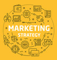linear marketing strategy vector image